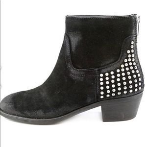 Black Suede Booties- Marc Fisher